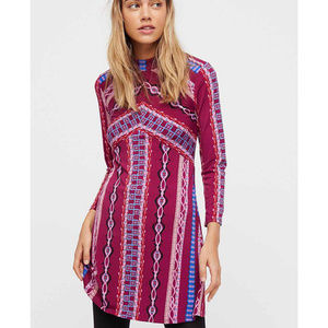FREE PEOPLE Purple Stella Stretch Mini Dress S